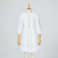 Fashionable and elegant female dress round collar no back sexy lace cotton