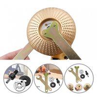 Coupeaux de genouil 5pcs Angle pratiques Clé de meuleuse à angle pratique Clé serrure métallique Tige de raccordement Compact pour perceuse électrique