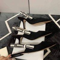 Gladyatör deri kadın sandalet yüksek topuklu sandalet ince topuklu ayakkabı yüksekler topuklu ayakkabı moda seksi mektup kumaş bayan Shoess en kaliteli kutusu ile büyük boy 34-42