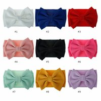 Children hair accessories large Butterfly Hair Band cloth baby headdress wide headband 9251