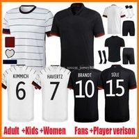20 21 Jerseys de football Jerseys Version Player Version Hummels Kroos Gnabry Werner Draxler Reus Muller Allemagne Allemagne Camisa de Futebol Shirt de football Camiseta Kits enfants