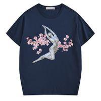 2021 Erkek S T-Shirt Luxuxy Adam Kadınlar Üst Tasarımcı Tee Moda Serin harfler ve Çiçek Baskı Kısa Kollu Lady Tees Rahat Giysiler Çiftler Yaz Kazak Giyim