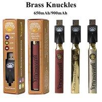 Brass Knuckles Vape Battery 650mAh 900mAh Variable Voltage Preheat BK E-Cigarette Batteries Pen For 510 Thraed Thick Oil Cartridge Atomizer