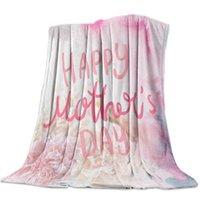 Fleece Tiro Cama Manta Ligera Super Suave Soft Cozy Feliz Día de la Madre Claveles Hermoso regalo para adultos Mantas para niños