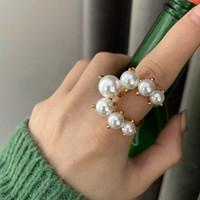 Frauen Perlen Ring Weibliche Einstellbare Ins Netto Rot Kalt Wind Minderheit Design Temperament Perle Mund Index Finger Hochzeit Partei Ring