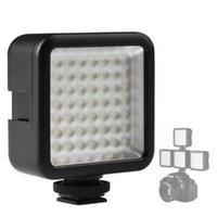 Módulos Ultra Bright 800lm 49 LED Luz flash de alta potencia para cámaras SLR Lámpara de llenado Lámpara de video Monte estabilizador Yuntai