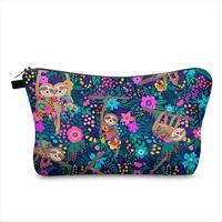 Sloth Selling Cosmetic Storage Organizer Bag Save Mask Clutch Purse Women Toiletry Cute Zipper Handbags Makeup Pencil Cases