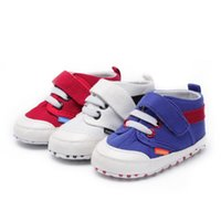 First Walkers Canvas Classic Sports Sneakers Born Baby Boys Girls Shoes Infant Toddler Soft Sole Anti-slip