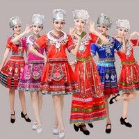 Classici costumi da ballo tradizionali tradizionali per le donne Miao Hmong vestiti tradizionali hmong-vestiti china abbigliamento nazionale