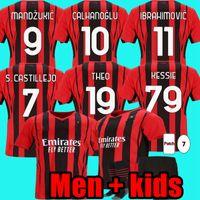 المشجعون لاعب النسخة 2021 22 ميلان 21 22 ac لكرة القدم جيرسي إبراهيموفيتش كيسي bennacer رومغنولي لكرة القدم قميص ثيبك ماندزوكيك مينيكيت الرئيسية بامبينو الرجال + أطفال كيت