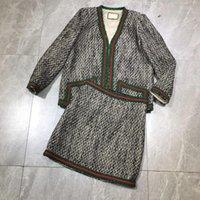 Two Piece Dress 108015 Women Blazer With Belt Long Skirt Pieces Set