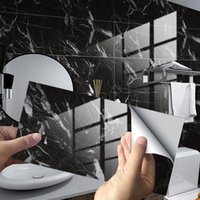 Wall Stickers Marble Ceramic Tile Waterproof Film Bathroom Kitchen Walls Home Decoration PVC Luxury Mural Panel Peel And Stick
