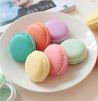Mini Jewelry Storage Case Macaroon Round Solid Color Gift Box Necklace Earrings Ring Fashion Makeup Organizer Accessory LLE7547