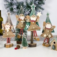 Navidad colgante ornamentos de gota Muñeca de ángel con patas largas Árbol de Navidad Decoraciones navideñas Decoraciones de Navidad DWB8999