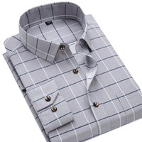 Men Shirt Casual Pocket Normal Long Sleevle Turndown 100% Polyester Regular Summer Spring Plaids Grey Broadcloth