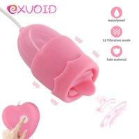 Exvoid 12 vitesses Puissance USB CLITORIS Stimulateur de stimulation LANGUE Lécheuse orale Vibrateurs Vibrators Vibrator Sex Toys pour femmes P0818