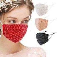 Kullanımlık Yıkanabilir Rhinestone Oymak Maske Moda Bling Elmas Yüz Maskesi Kadınlar Için Toz Geçirmez Güneş Kişilik Maskeleri