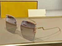 여름 선글라스 여성 스타일 0259s 안티 - 자외선 레트로 플레이트 상감 된 진주 프레임 패션 안경 무작위 상자
