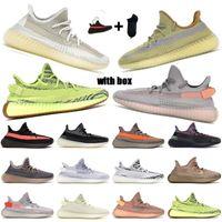 حار 2020 جديد التكبير ألفا البطيخ يطير الأحذية المقبلة٪ رجل أسود أخضر الكهربائية ولدت البيضاء جولة البرتقالي والأصفر فولت متماسكة إمرأة حجم Originals Yeezy Boost 350 V2 3645