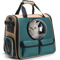 Kedi Taşıyıcıları, Kasalar Evleri Yüksek Kaliteli Katlanabilir Astronot Taşıma Seyahat Taşıyıcı Tote Omuz Çanta Köpek Sırt Çantası Pet Carrie