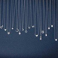 نجمة بطاقة ورقة قلادة سلسلة مجموعة متنوعة من الماس المعلن قلادة الترويجية سلسلة المرأة شخصية مجوهرات مجوهرات بالجملة