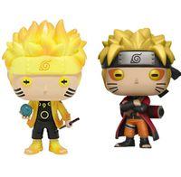 Funko Pop Animation: Naruto - Naruto Six Path / Sage Mode Figura de acción de vinilo con caja # 185 / # 186 Juguete de muñeca de regalo