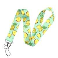 Fruit Pineapple Print Key Lanyard ID Lanyards Neck Strap Key Chain Holder Wristlet Lanyard for Women Men Gifts 97214
