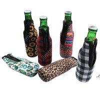 330ml 12 oz Néoprène Botte de bière de bière Néoprène Couverture avec fermeture à glissière, bouteille Koozies, Softball, motif de tournesol DAJ145
