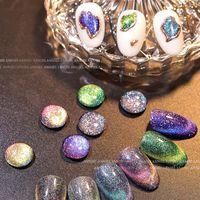 Nail Gel Glitter Polish Semi Permanent Dream Quicksand Cat Eye Art Varnish Top Base Coat UV TSLM2
