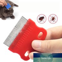 Stainless Steel Pet Grooming Hair Comb Long Thick Hair Fur Removal Flea And Lice Brush Pets Combs For Dog Cat Guinea Pig