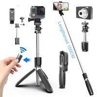 Tripod Heads Wireless Bluetooth Selfie Stick Foldable Mini With Shutter Remote Control For And Sports Action Mobile Phone
