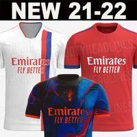 21 22 camisas de futebol Lyon 2021 2022 Olympique Lyonnais Maillot  Soccer Jersey OLTRAORE MEMPHIS homens crianças kits equipamentos BRUNO G tops