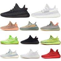 Wholesale Kanye Running Shoes pour Mens Femmes Statique Noir Réfectif Terre Zèbre Zebra Hommes Femmes Formatrices Sportes Sports Sneakers Taille 36-48