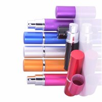 5ml Mini Spray Perfume Bottle Travel Refillable Empty Cosmetic Container Atomizer Aluminum Bottles