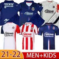 2021 2022 Chivas Jerseys 21 22 22 Liga MX Deportivo Guadalajara E.Lopez A.Vega Macias U.Antuna Camisa de Futebol Men + Kids Kit