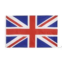 Alta qualità 90 * 150 cm 3 * 5fts 100% poliestere Union Jack Regno Unito Regno Unito Bandiera EWB5808