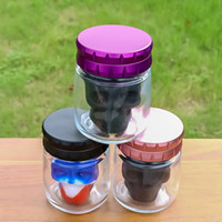 Colorful Smoking Skull Silicone Stash Cases Herb Tobacco Multi-function Spice Miller Grinder Crusher Grinding Chopped Hand Muller Cigarette Glass Storage Tank Jar