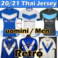 2021 Brescia Calcio Futbol Forması Ev Mavi Uzakta Beyaz F.aye Tonali 2003 2004 Brescia Retro Futbol Formaları Baggio Pirlo Futbol Gömlek