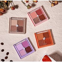 Explosive earth color matte pearl glitter powder four-color cherry blossom beauty makeup eyeshadow palette