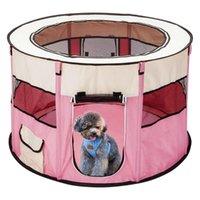 Cat Carrier, Kisten Häuser Tragbare Outdoor Kennels Zäune Haustier Zelt Für große kleine Hunde Faltbare Indoor Playpen Welpen Katzen Käfig Lieferung