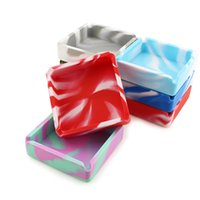 High quality 100MM big square silicone Ashtray bag solid color camouflage colors can be customized