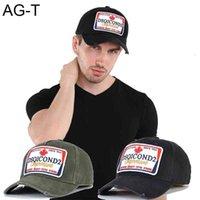 D176 Icono Dsqicond2 gorra de béisbol hombres y mujeres diseño de moda bordado de algodón deportes deportes con sombrero de calidad agradable calidad de la cabeza