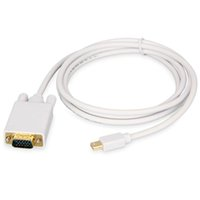 1.8M 6FT DisplayPort DP to VGA For Macbook Cables Connector Male-Male Cabo Adapter TV AV Cable Computer