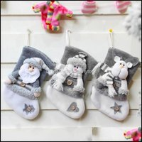 Decorations Festive Party Supplies Home & Gardenchristmas Tree Ornaments Christmas Stockings Gift Socks Stocking Santa Claus Sock Candy Bag