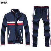 Homens Sportswear Set Marca Mens Tracksuit Sporting Roupas de Fitness Duas Peças Polo Sueteria + Calças Casuais Mens Track Terno