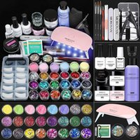 Acrylic Nail Kit - Powder And Liquid Monomer Set Glitter Art...