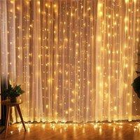 Cordes LED Rideau Light 3x3M String Lights Water Waterfall Lamp Mariage Salle de mariage Décor Garland Jardin Décoration Fée en plein air