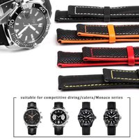 Nylon Mix Leather Canvas Watchband for Omeg-a Speed Sea Master At150 19mm 20mm 21mm 22mm 23mm Watch Strap for Fifty Fathoms H0915