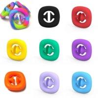 Rainbow Zappeln Greifer Schnappdrucke Spielzeug Hand Snapper Hände Kraft Griffe Greiften Squeezy Snap Sensory Toys Autismus Stress Relief 4966