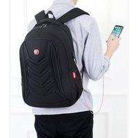 Mens USB Charge Waterproof Laptop Backpacks Large Capacity Male Leisure Travel Bags Student School Bookbag Computer 2021 Big Backpack